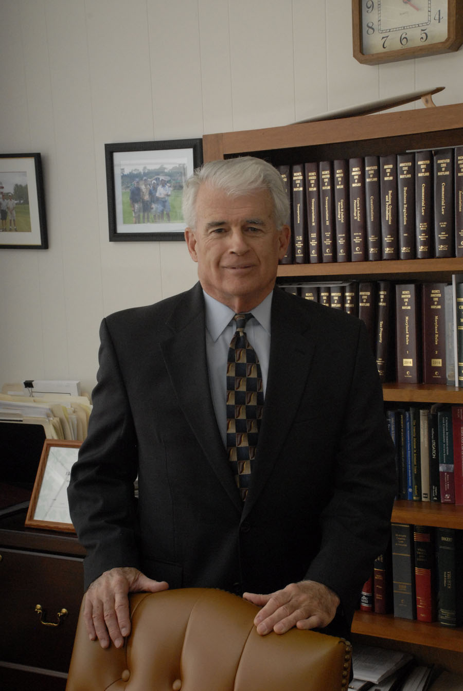 Attorney at law, C. Gregory Coburn, in his Ocean City law office